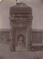 Small temple of the Chandella period on a hillock near the Jarah ki Math, outside the village of Phatera, near Barwa Sagar